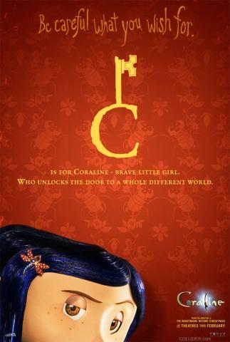 плакат фильма Коралина в стране кошмаров