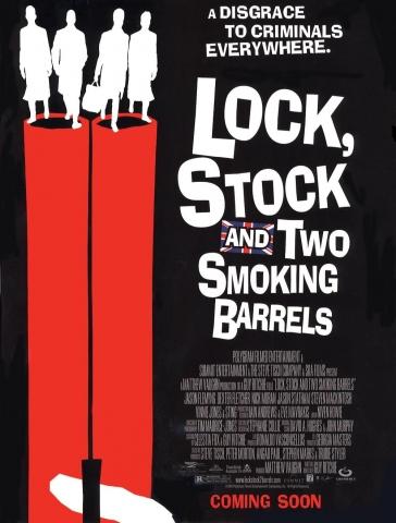 плакат фильма Карты, деньги, два ствола