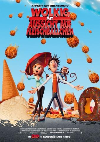 плакат фильма Облачно, возможны осадки в виде фрикаделек