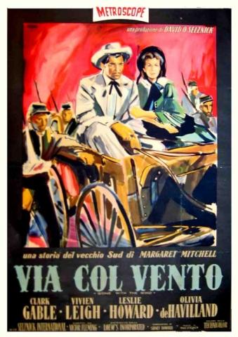 плакат фильма Унесенные ветром