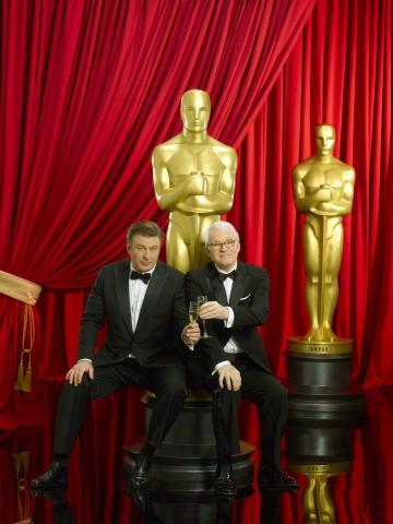 промо-слайды Оскар 2010 Алек Болдуин, Стив Мартин,