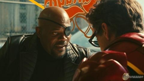кадры из фильма Железный человек 2 Сэмюэль Л. Джексон, Роберт Дауни-мл.,