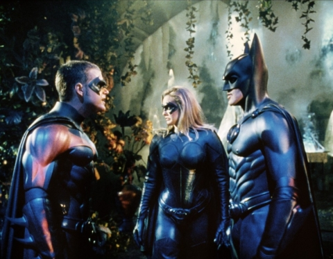 кадры из фильма Бэтмен и Робин Алисия Сильверстоун, Джордж Клуни, Крис О'Доннелл,