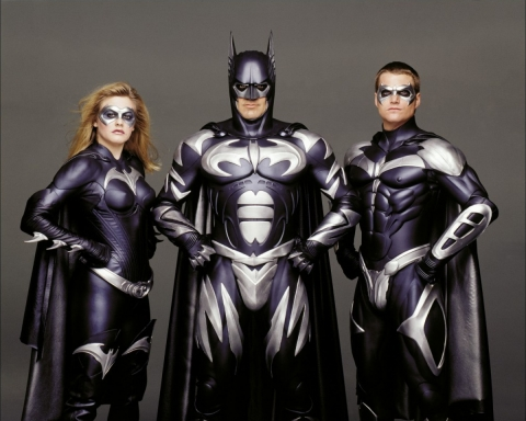 промо-слайды Бэтмен и Робин Алисия Сильверстоун, Джордж Клуни, Крис О'Доннелл,