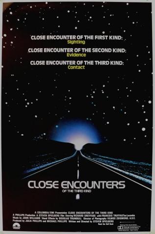 плакат фильма постер Близкие контакты третьей степени