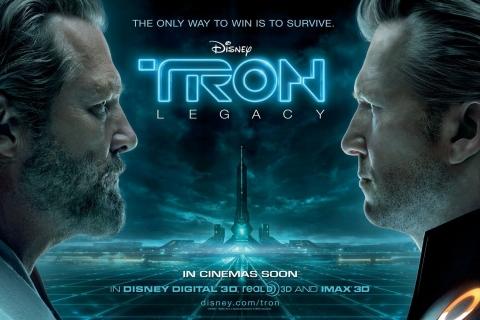 плакат фильма биллборды Трон: Наследие