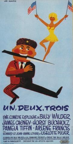 плакат фильма баннер Один, два, три