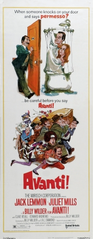 плакат фильма баннер Аванти!