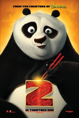 плакат фильма тизер Кунг-фу панда 2