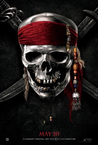 плакат фильма тизер Пираты Карибского моря: На странных берегах