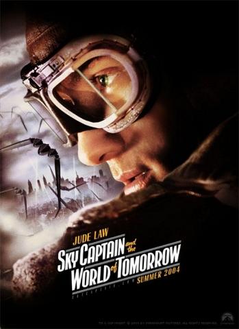 плакат фильма характер-постер Небесный капитан и мир будущего Джуд Лоу,