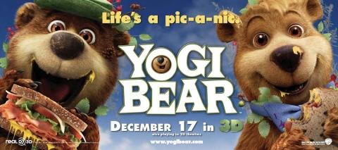 плакат фильма биллборды Медведь Йоги
