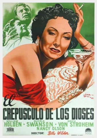 плакат фильма постер Бульвар Сансет