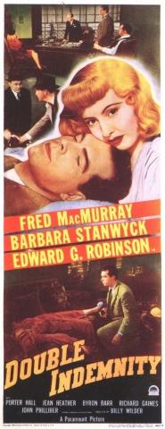 плакат фильма баннер Двойная страховка