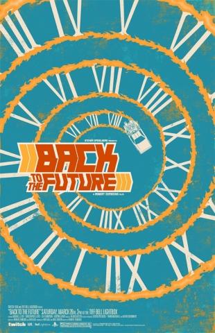 плакат фильма арт-постеры Назад в будущее