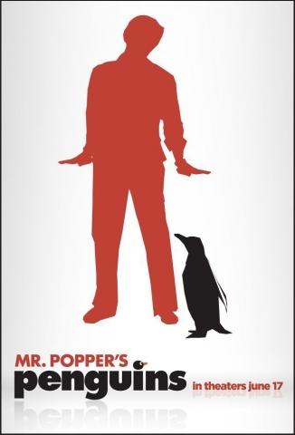 плакат фильма тизер Пингвины мистера Поппера