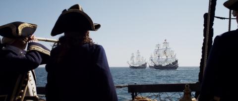 кадры из фильма Пираты Карибского моря: На странных берегах Грег Эллис, Джеффри Раш,