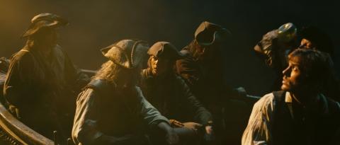 кадры из фильма Пираты Карибского моря: На странных берегах Робби Кэй, Сэм Клафлин,