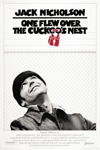плакат фильма постер Пролетая над гнездом кукушки