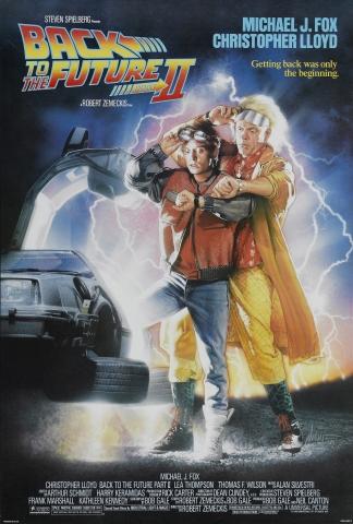 плакат фильма постер Назад в будущее, часть II