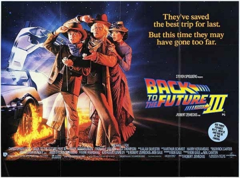 плакат фильма биллборды Назад в будущее, часть III