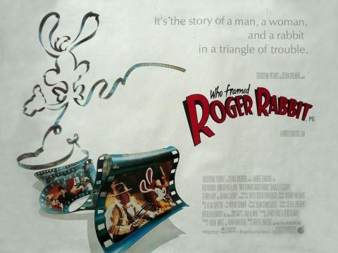 плакат фильма тизер биллборды Кто подставил кролика Роджера