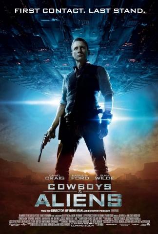 плакат фильма постер Ковбои против пришельцев