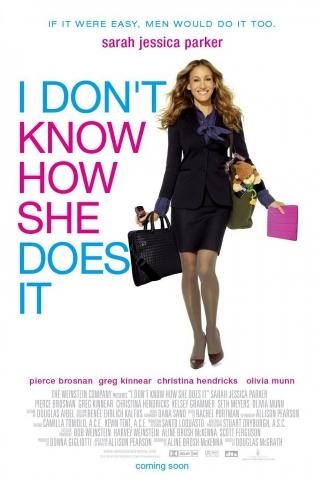 плакат фильма постер Я не знаю, как она делает это