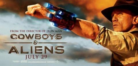 плакат фильма баннер Ковбои против пришельцев