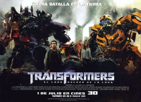 плакат фильма биллборды Трансформеры 3: Темная сторона Луны