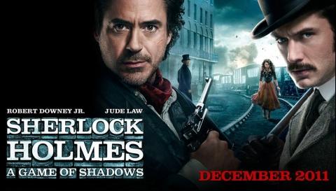 плакат фильма биллборды Шерлок Холмс: Игра теней