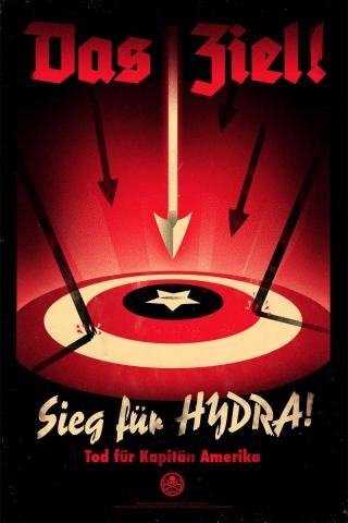 плакат фильма арт-постеры Первый Мститель