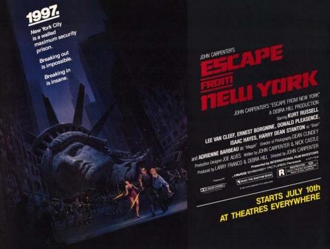 плакат фильма баннер Побег из Нью-Йорка