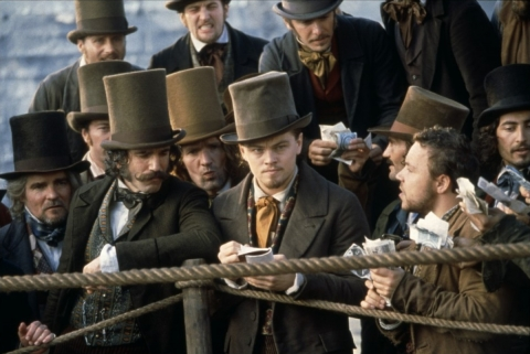 кадры из фильма Банды Нью-Йорка Стивен Грэм, Дэниэл Дэй-Льюис, Леонардо ДиКаприо,