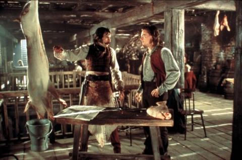 кадры из фильма Банды Нью-Йорка Дэниэл Дэй-Льюис, Леонардо ДиКаприо,