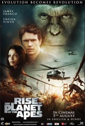 плакат фильма постер Восстание планеты обезьян