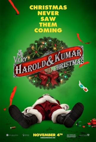 плакат фильма постер Убойное Рождество Гарольда и Кумара