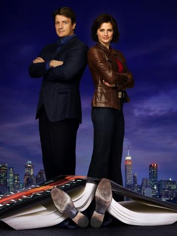 плакат фильма постер сезон 1 textless Касл