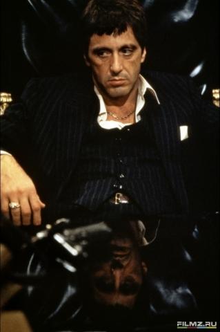 кадры из фильма Лицо со шрамом Аль Пачино,