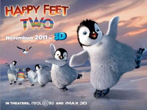плакат фильма биллборды Делай ноги 2 в 3D