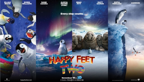 плакат фильма баннер Делай ноги 2 в 3D