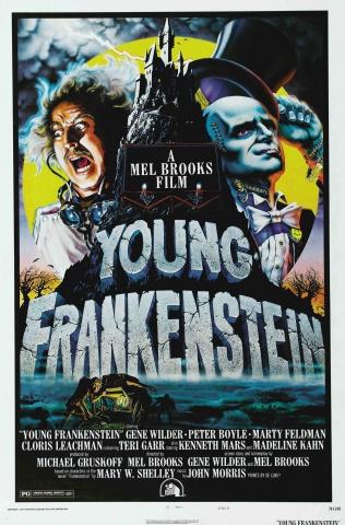 плакат фильма постер Молодой Франкенштейн