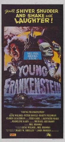 плакат фильма баннер Молодой Франкенштейн