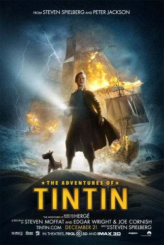 плакат фильма постер Приключения Тинтина: Тайна единорога