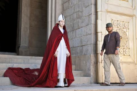 со съемок Иоанна — женщина на папском престоле Йоханна Вокалек, Зенке Вортманн,