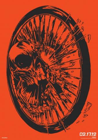 плакат фильма арт-постеры Призрачный гонщик 2 в 3D