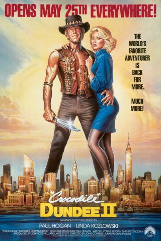 плакат фильма «Крокодил» Данди II
