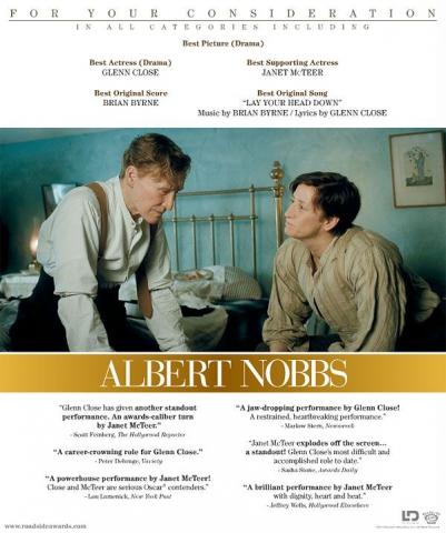плакат фильма «Оскаровская» кампания Таинственный Альберт Ноббс