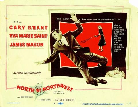 плакат фильма постер На север через северо-запад