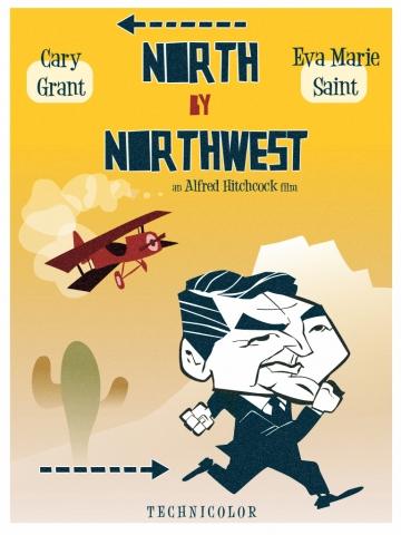 плакат фильма постер любительское На север через северо-запад